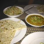 Chapatis, biryani et dhals
