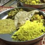Curris de légumes et lemon rice, chapati Fait par Usha